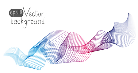 background color: Abstract wave for Your design Illustration