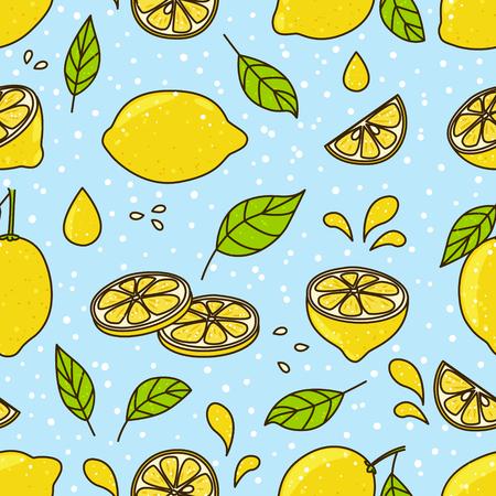 juicy: Seamless pattern with juicy lemons
