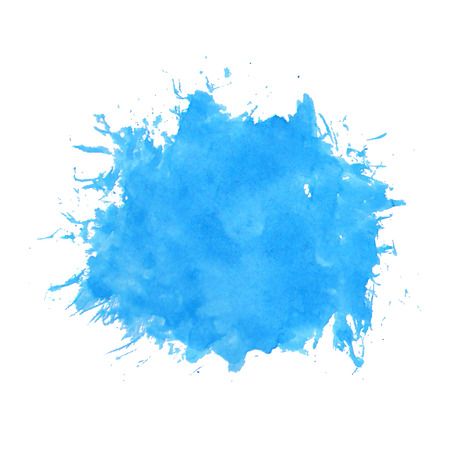 Vector watercolor splash isolated on white