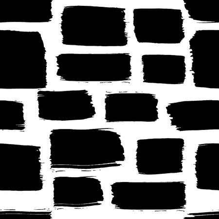 black ink: Seamless pattern with black paint elements