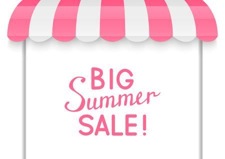 street market: Summer sale concept for Your design Illustration