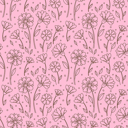 decor graphic: Seamless pattern with floral ornate Illustration