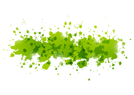 blots: Green paint splashes for Your design