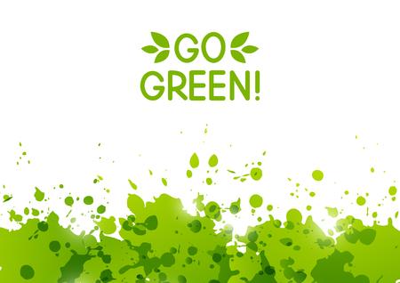 ecology background: Ecology background with green paint splashes
