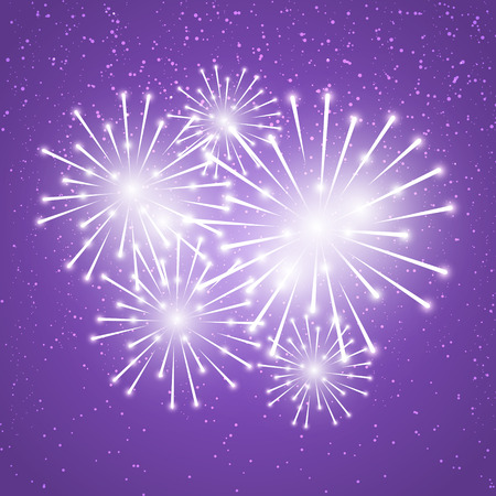 shiny background: Shiny fireworks on purple background