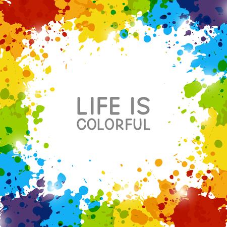 Abstracte achtergrond met regenboog verfplonsen
