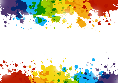 Abstract background with rainbow paint splashes