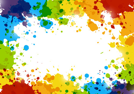 paint splash: Abstract background with rainbow paint splashes