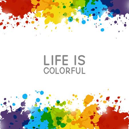 Abstrakt Hintergrund mit Rainbow Farbspritzer Vektorgrafik