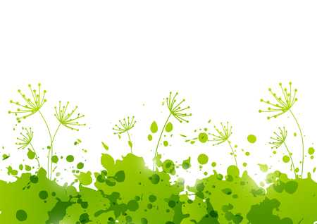 green paint: Ecology background with green paint splashes