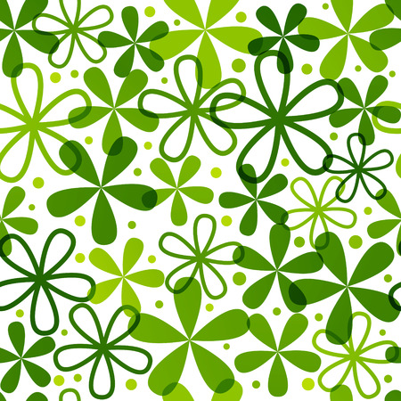 green flowers: Seamless pattern with green flowers