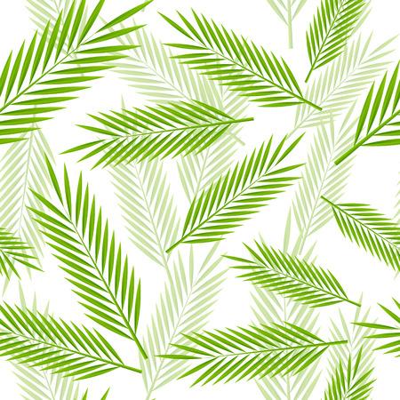 与棕榈叶的无缝的样式