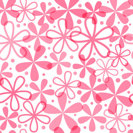pink flowers: Seamless pattern with pink flowers Illustration