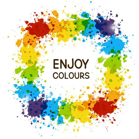 color design: Color paint frame for Your design