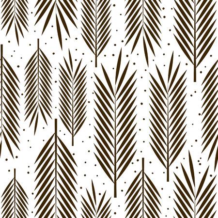 Seamless avec des feuilles de palmier ornement