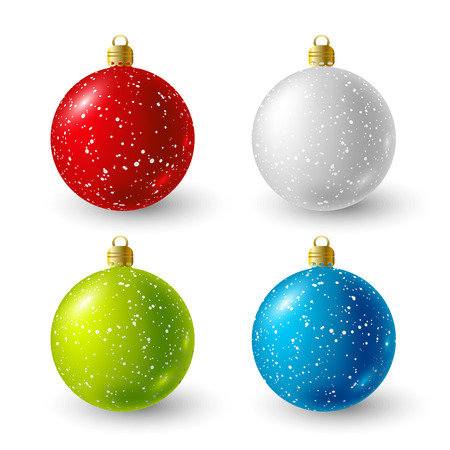 color balls: Set of color Christmas balls for Your design