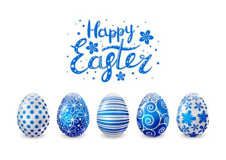 oeufs de Pâques Bleu pour votre conception Illustration