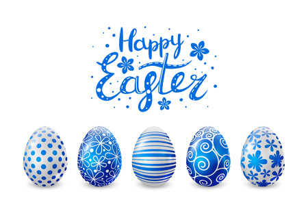 Blue Easter eggs for Your design