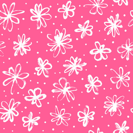 Muster mit Hand gezeichneten Blumen