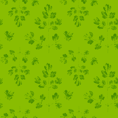 Pattern with paint prints of leaves