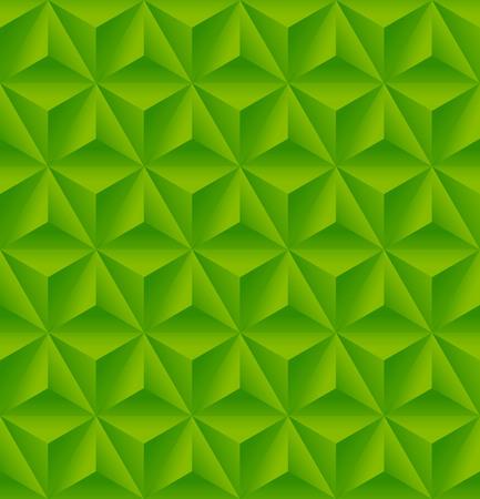 Naadloos patroon met groene driehoekige reliëf