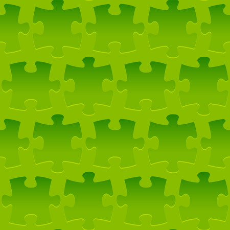 Seamless pattern with relief puzzle ornate Stock Illustratie