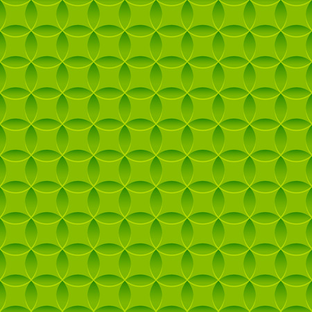 Seamless pattern with green relief ornate