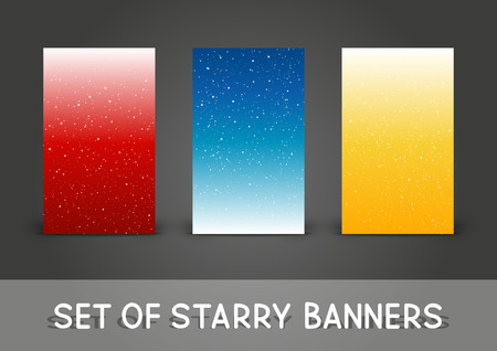 Set of 240 x 400 vertical banners with starry ornate.