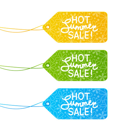paper tags: Set of summer sale paper tags