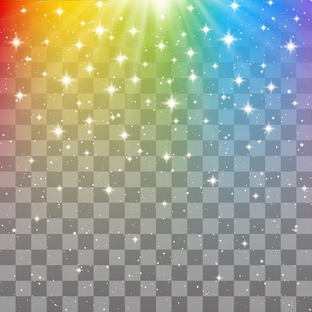Rainbow shiny background with transparent effect