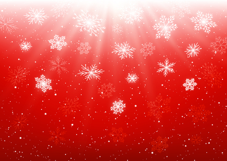 Christmas background with shiny snowflakes Ilustração