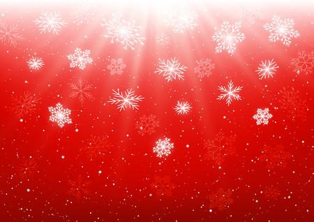 Christmas background with shiny snowflakes Illustration