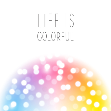 Color design element with shiny bokeh Illustration