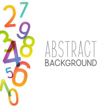 Abstract background with color numbers Illustration