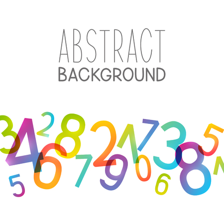 Abstract background with colorful numbers.