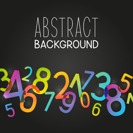 Abstract background with color numbers. Illustration