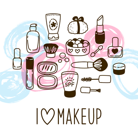 Cute cosmetics background for Your design