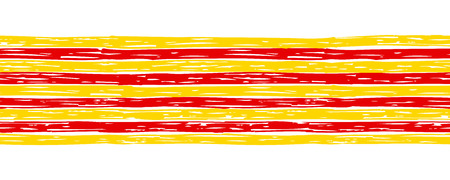 Seamless border with flag of Catalonia