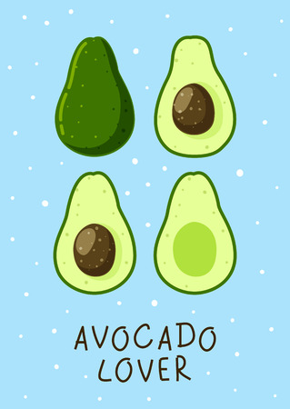 Avocado background for Your design 일러스트