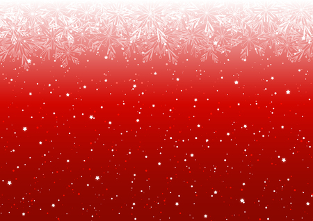Christmas background with shiny lights on red