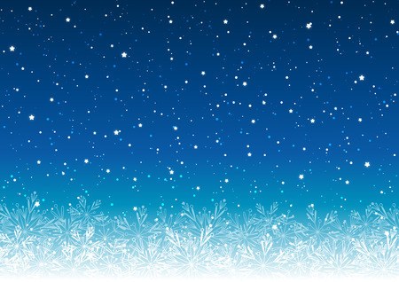 Christmas background with shiny lights on blue