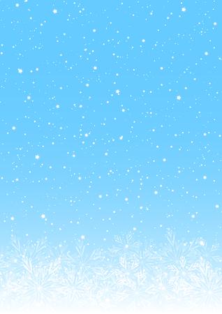 Christmas background with shiny snowflakes on blue Ilustrace