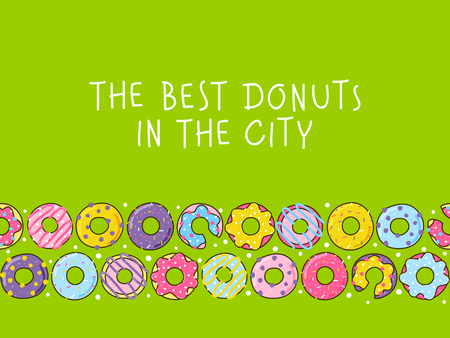 Color donuts border for your design