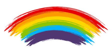 Rainbow paint element isolated on white background Vetores