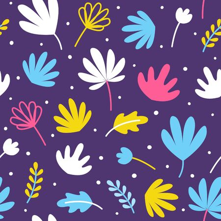 Seamless pattern with color tropical leaves for Your vibrant summer design