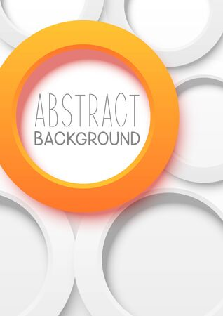 Abstract brochure cover design with round elements