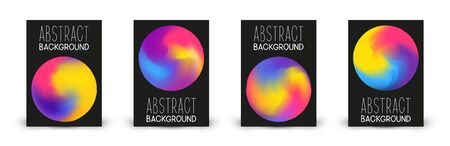 Set of brochure covers design with abstract color round elements