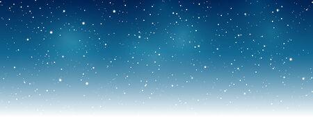 Sky stars background - horizontal banner for your design  イラスト・ベクター素材
