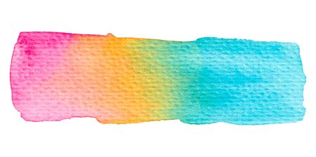 Vector rainbow paint texture isolated on white - watercolor banner for Your design 写真素材