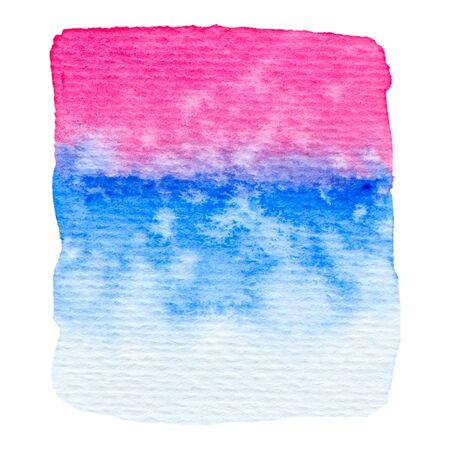 Vector pink and blue paint texture isolated on white - watercolor banner for Your design